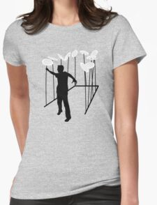 Plate Spinning Womens Fitted T-Shirt