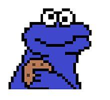 Pixel Cookie Monster by KyBoot