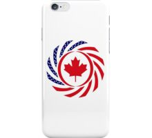 Canadian American Multinational Patriot Flag Series 1.0 iPhone Case/Skin