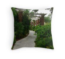 Garden Walk in Winter Park Throw Pillow