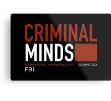 ciminal minds logo Metal Print