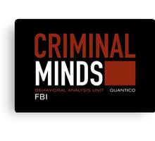 criminal minds logo Canvas Print