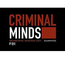 criminal minds logo Photographic Print