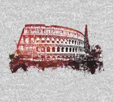 Rome, Colosseum skyline One Piece - Short Sleeve