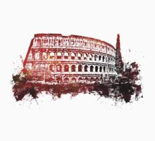 Rome, Colosseum skyline Kids Tee