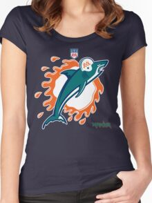Miami Football Women's Fitted Scoop T-Shirt