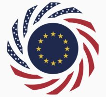 European American Multinational Patriot Flag Series by Carbon-Fibre Media