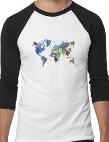 World map cosmos Men's Baseball ¾ T-Shirt