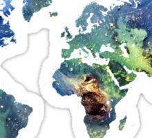 World map cosmos Sticker