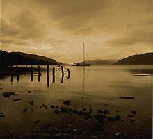 loch ness at night by joemagic
