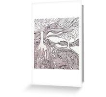 Line Landscape Greeting Card