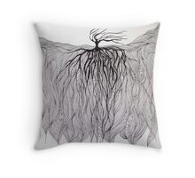 Line Landscape Throw Pillow