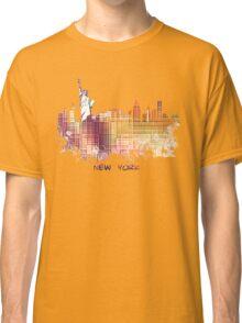 New York City skyline yellow cube Classic T-Shirt