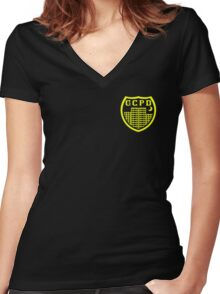 GCPD Women's Fitted V-Neck T-Shirt