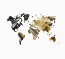 World Map Sandy world Kids Tee