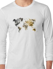 World Map Sandy world Long Sleeve T-Shirt
