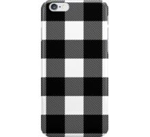 Buffalo plaid in white and black. iPhone Case/Skin