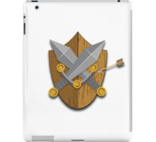 Shield and Swords (Wood) iPad Case/Skin