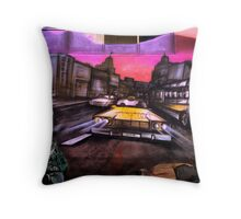 Homeless in the City Throw Pillow