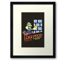 Super Smash Bros Super Luigi Bros Framed Print