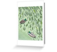 Oxide of Chromium and Ducks Greeting Card