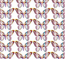 Multi Coloured Butterfly by coribeth