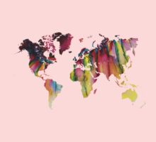 World Map colored Kids Clothes