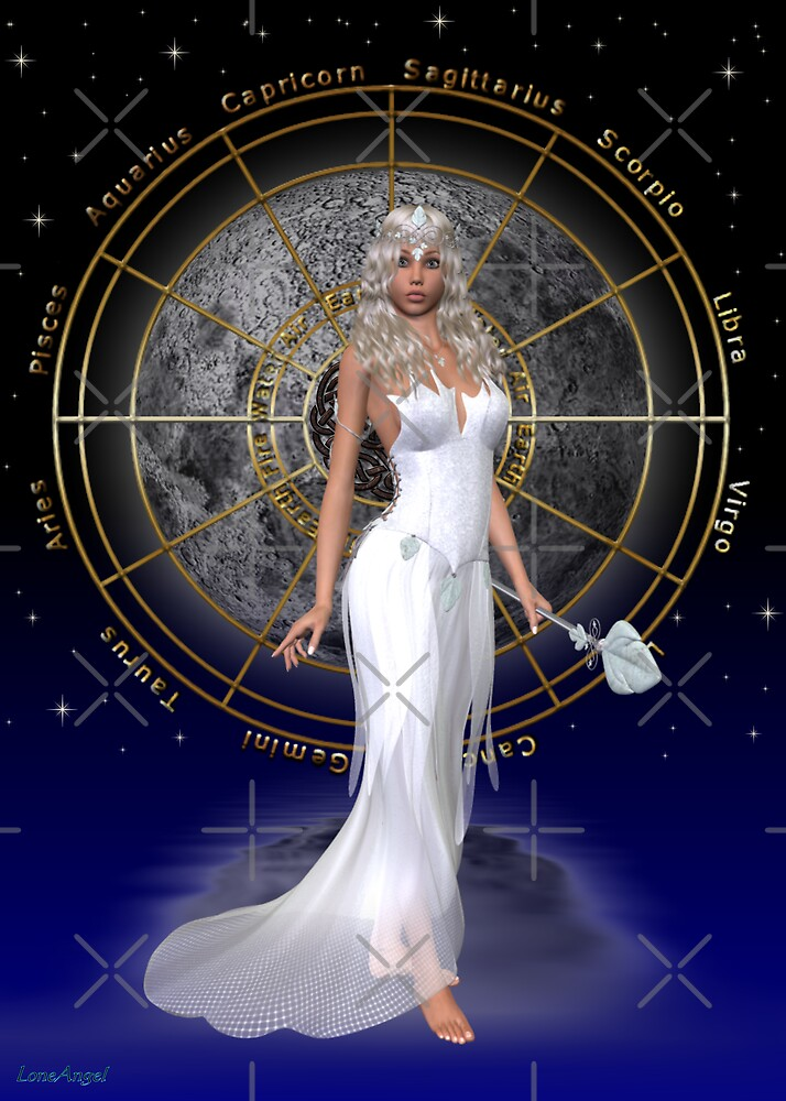 Arianrhod .. moon goddess by LoneAngel