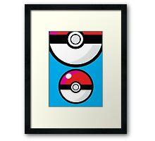 pokeballs 2 Framed Print