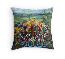 Mola Me - Caribbean Sea Throw Pillow