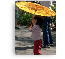 Gir wit umbrella Canvas Print