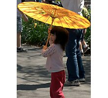 Gir wit umbrella Photographic Print