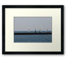 Distance Sailing Framed Print