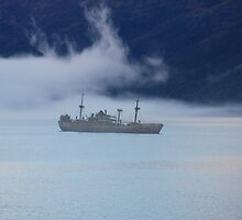 Ghost Ship in the Chilean Fjords by Shubie