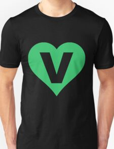 V for Vegetarian Unisex T-Shirt