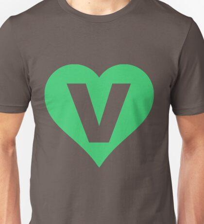 V for Vegetarian Unisex T-Shirt