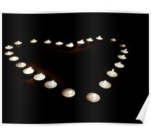 Candle lit Heart Poster