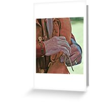 Scabbard tie Greeting Card