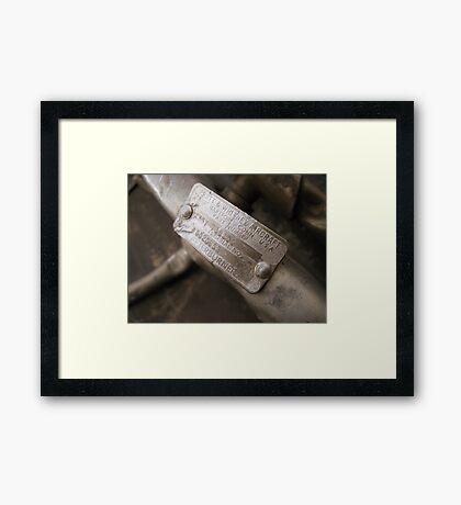 Afterburner Framed Print