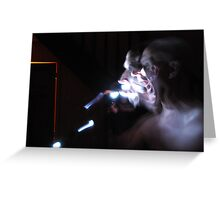 Ghostly appearnce mk2 Greeting Card