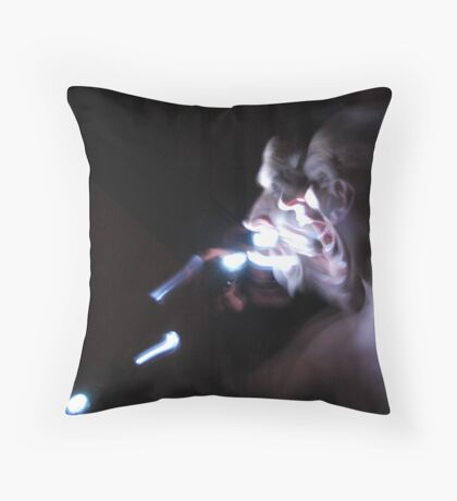 Ghostly appearnce mk2 Throw Pillow