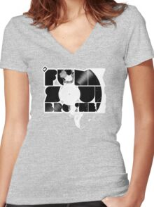 D-Funk Soul Brother  Women's Fitted V-Neck T-Shirt