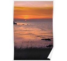 Sunset over Reculver Poster