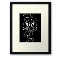Chibi - Raven Curia White Outline Framed Print