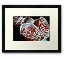 Pink Fractal Roses Framed Print