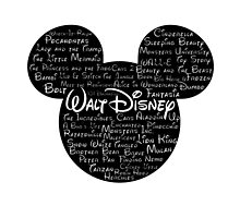 Walt Disney Typography by autumnfire123