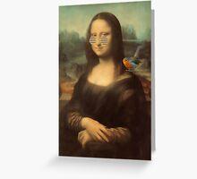 Mona Lisa & Friend Greeting Card