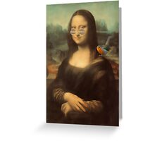 Mona Lisa & Friend Greeting Card