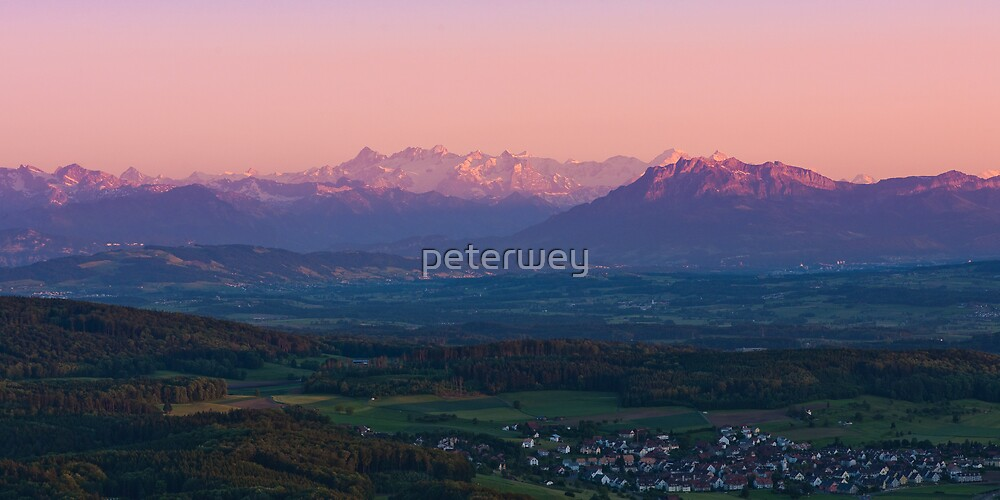 sunset view from uetliberg by peterwey