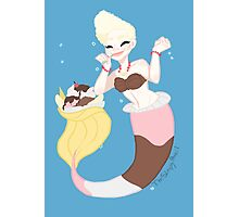 Dessert mermaid: Banana split Photographic Print